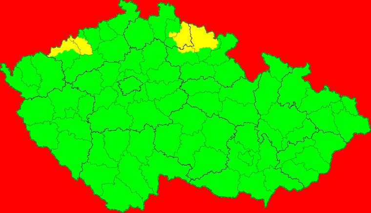 Aktuelle Unwetterkarte Česká republika